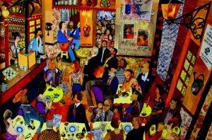 ambiance-au-bar-de-la-colombe-collage-de-michel-valette-(2013)CONTRASTE