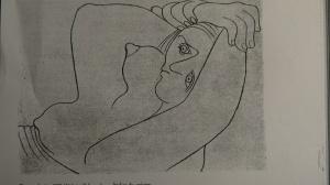 Picasso, Atelier du peintre (dessin), 1929, 15 x 21 cm (reproduit dans Documents, 1930, n°3)